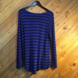 NWT Joe Fresh Long Sleeve Purple/Black Top Medium